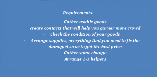 100 dollars a day by Garage sale