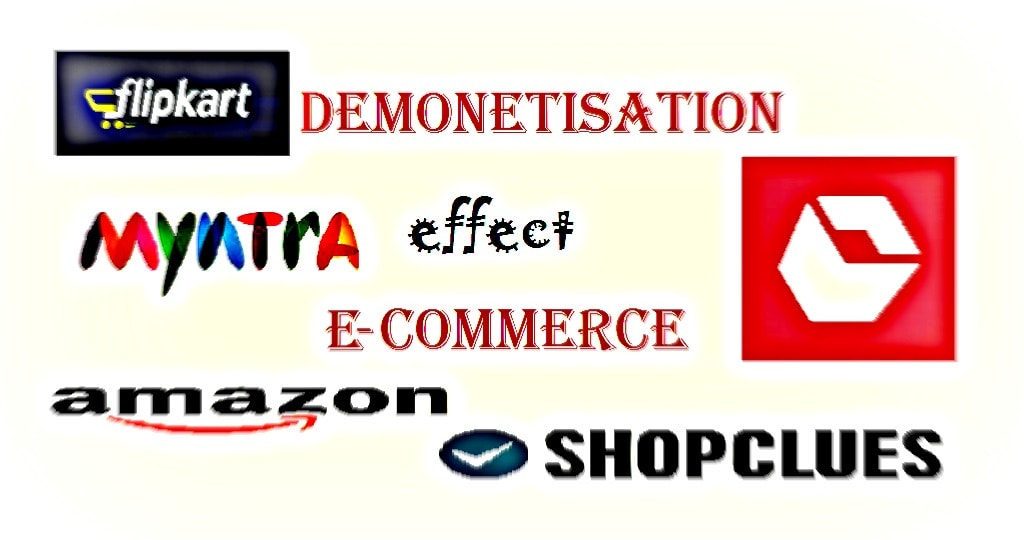 e-commerce website logo demonetisation