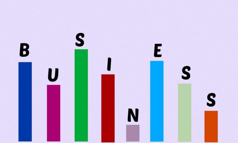 business bars graph fluctuation