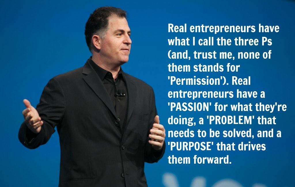 Michael Dell three p of success