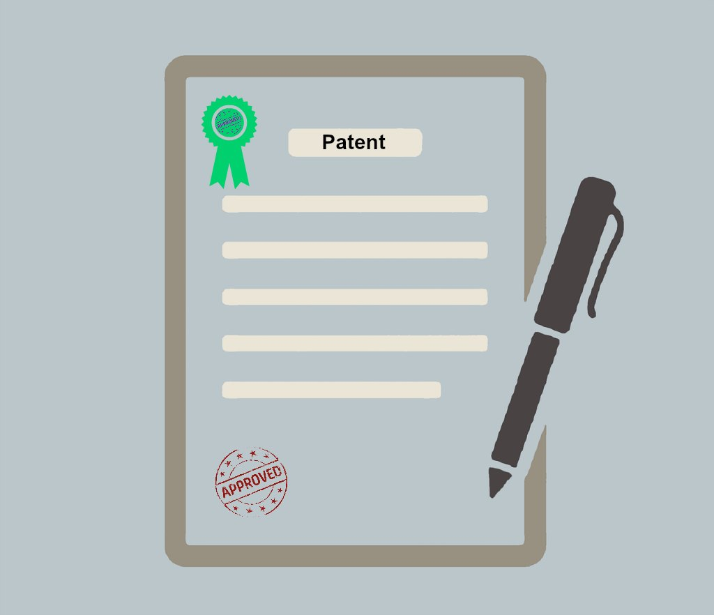 file patent in India approved stamp pen paper