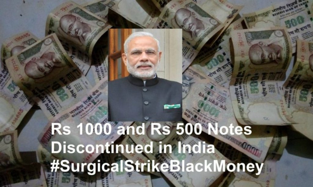 Rs 500 and Rs 1000 Notes Discontinued in India to Stop Black Money- Full Report