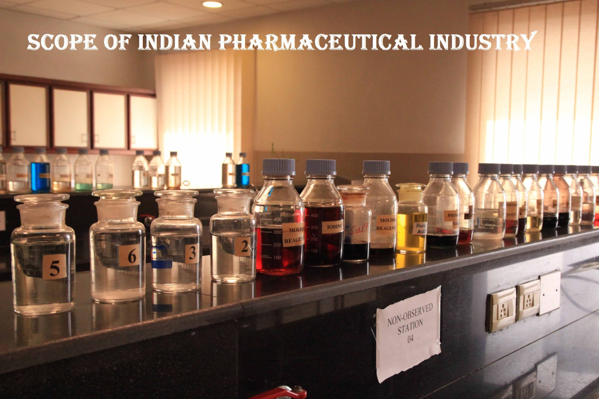pharmaceutical biotechnology chemical bottle research lab