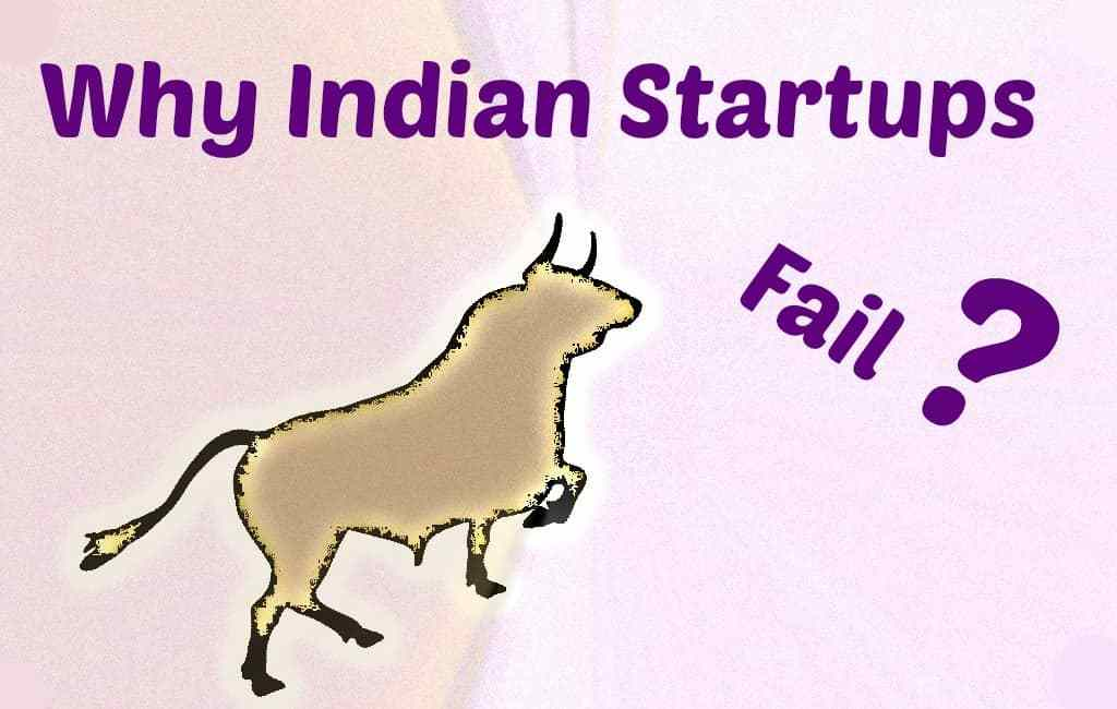 reason indian startup fail in india bull hitting