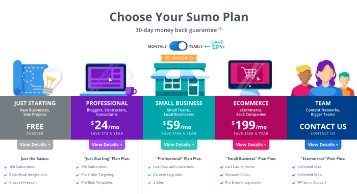 app sumo new pricing